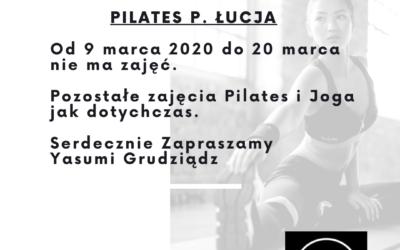 Aktualizacja zajęć Pilates         i Jogi w Yasumi Grudziądz